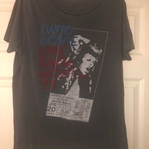 Vintage David Bowie band t-shirt